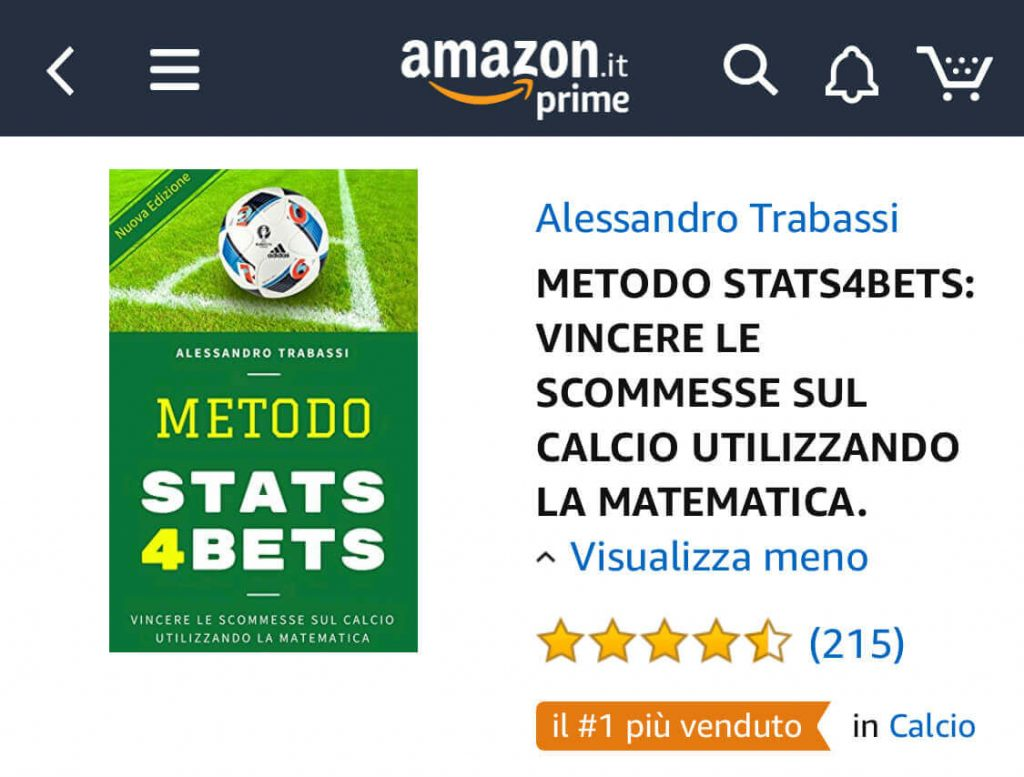 Metodo Stat4Bets Amazon